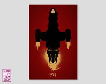 Firefly / Serenity inspired minimalist movie poster - 2016 Variant