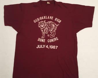 Vintage Oak Lane High School Homecoming 1987 T-Shirt