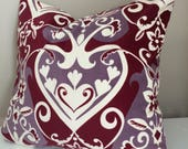 Velveteen heart pillow, queen of hearts, Anna Maria Horner, velvet pillow