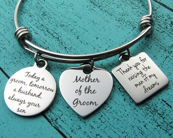 Mother of the groom gift from son and daughter in law, wedding gift for Mother in law from bride and groom, bride groom bridal gift to Mom
