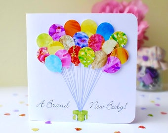 New Baby Card - New Baby Boy Card - New Baby Girl Card - Congratulations - A Brand New Baby - Customised Personalised with your own message