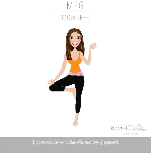 Yoga Instructor Logo Tree Pose Yoga Blog Avatar Clip Art