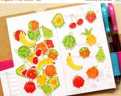 Fruit Stickers. Party Confetti. Planner Stickers. Food Stickers. Erin Condren Stickers. Shopping Sticker. Scrapbook Decoration. Cute Sticker