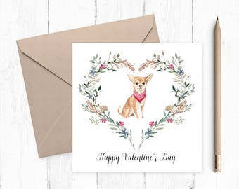 Chihuahua Valentine Card - chihuahua - valentine card - ideal gift for dog lovers