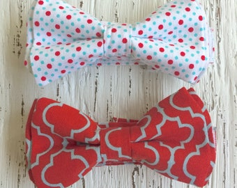 READY TO SHIP (size 3-6 yo), red bowtie, 4th of july bowtie, summer bowtie, red and blue bowtie, red and blue tie, blue bowtie, red bowtie