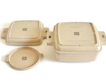 Littonware Microwave Casserole Dish 1.5 Qt 39271 39272, Round Bowl Lid 39277, Square 1 Quart Divided Lid 39274