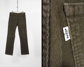 Vintage Levi's Brown Corduroy Pants 517 White Tab Made in USA - 31 x 30