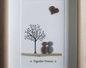 Pebble Art framed Picture- Together Forever