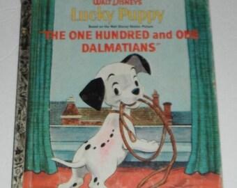 Vintage A Little Golden Book Walt Disney's Lucky Puppy