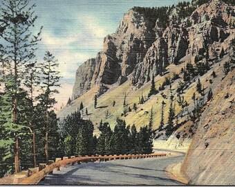 Jackson Hole, Wyoming, Hoback Canon, Highway, Grand Teton, National Park - Postcard - Vintage Postcard - Unused (F1)
