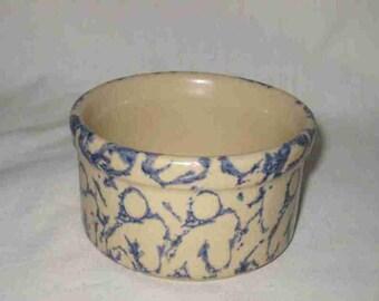 "4"" Spongeware Ramekin RRP Robinson Ransbottom Roseville OH Pottery"