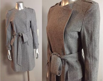 Light Gray Wool Military Styled Jacket or Dress