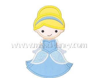 ON SALE Cinderella 1 Applique Design