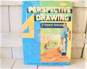 Vintage art instruction book How to Draw Perspective Walter Foster- free shipping US