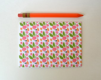 Floral Stationery - Set of 8 Note Cards - Stationary- Folded Cards