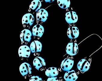 20 GLASS Strand Beads - 15x10x8mm - COD0264