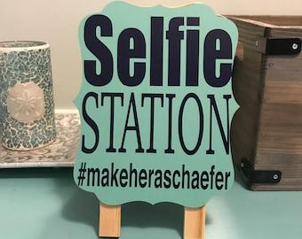 Selfie Station Wedding Hashtag Sign