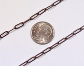 Long, Thin Cable Chain - Antique Copper - CH44-AC - Choose Your Length