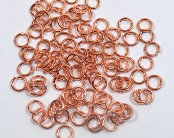 6mm Shiny Copper Jump Rings