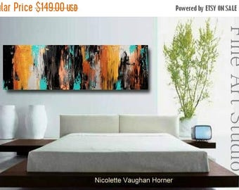 """SALE Original abstract Oil gallery canvas contemporary palette knife 48""""abstract  painting by Nicolette Vaughan Horner"""