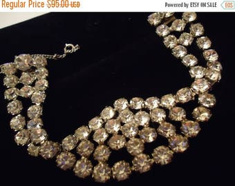 Now On Sale Vintage Rhinestone Bracelet High End 1950's Collectible Mad Men Mod Mid Century Hollywood Regency Rockabilly Glamour Girl Jewelr