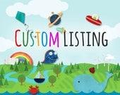 Custom Listing for ravelandstitch - 9/4