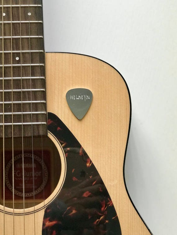 Personalized Guitar Pick | Hand Stamped Initials Monogram Name | Aluminum or Brass Gifts for Him