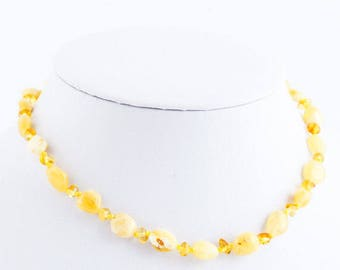 Baltic Amber Baby Teething Necklace Light Color