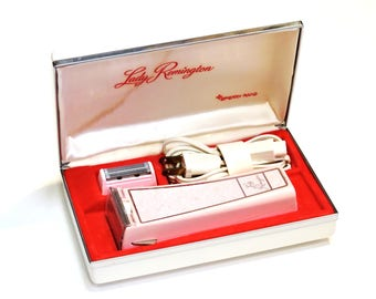 Lady Remington Electric Razor Model LR70, Pink Leg Underarm Shaver by Sperry Rand w/ Case and Original Box itsyourcountry