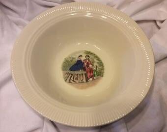 Codey Prints Rib Salem China Soup  Bowl 1940's