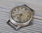 START Vintage Soviet Russian wrist watch for parts. Didn't work.