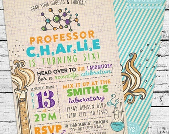 Science Birthday Invitation + Our 4 Favorite Printables!