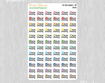 Do the Laundry, Rainbow Brights - 72 Functional Planner Stickers    04