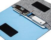 """12.9"""" iPad Pro, 10.5"""" iPad Pro Case, iPad Pro 9.7"""" Cover, iPad Pro Cover - Gray & Sky Blue - Weird.Old.Snail"""