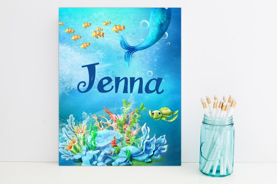 Mermaid Personalized Folder, School Supplies, Back to School, Monogrammed Folder, Custom Pocket Folder
