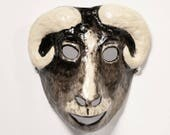 New Year ram paper mask