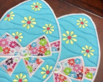 NEW Embroidered Mug RUg mouse pad EASTER fabric