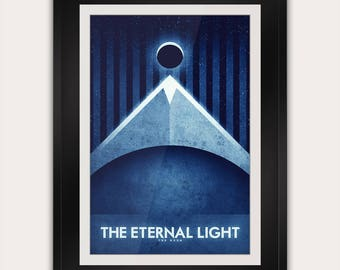 Space Travel Poster - The Moon - The Eternal Light