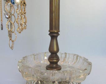 4-Arm Necklace Stand  with Dish   Revolving   Vintage Necklace Display   Jewelry Stand   Gifts for Her