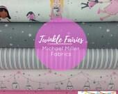 Pink Twinkle Fairies Bundle from Michael Miller Fabrics - 5 Fabrics