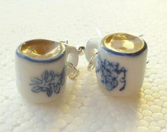Mug Of Tea Earrings. Polymer clay.