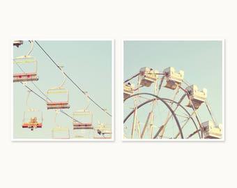 Nostalgic Carnival Rides:  set of 2 photograph prints