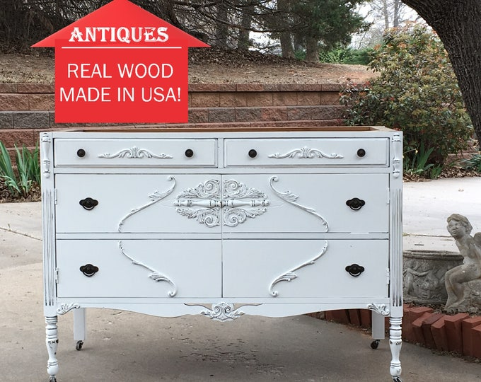 "BATHROOM VANITY CABINET Custom Converted from Antique Dresser We Source For You - Renovation - Remodel - Building - 34"" - 48"""