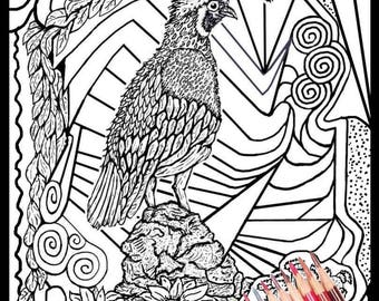 Adult Coloring Pages - Instant Downloadable Coloring Pages - Print on Quality Paper/Cartboard - Relaxation