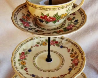Vintage Royal Doulton China Plates Stand, The Cavendish