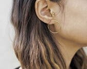 ON SALE ON Sale Gold fill Circle Hoops- gold Hoop Studs- gold Circle Studs- gold Hoop Earrings- gold Circle Studs
