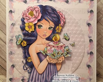 Conie Fong Butterfly Birthday Handmade Card