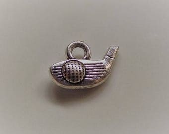 15mm*11mm. 5CT. Golf Club and Ball Charms, Y62