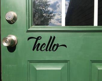 Front Door Vinyl Hello
