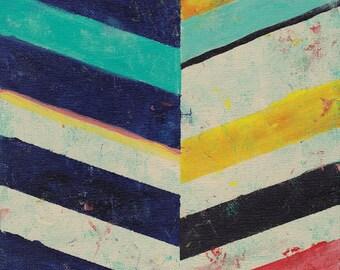 Abstract Art Print, Geometric Print, Stripes, Chevron Art, Mod art, Modern Art Print, Contemporary Art Print, Square Art